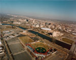 Link to Image Titled: Lawrence-Dumont Stadium and Downtown