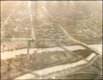 Link to Image Titled: Aerial view of downtown Wichita looking east