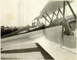 Link to Image Titled: Charles A. Lindbergh piloting a Swallow airplane in Wichita