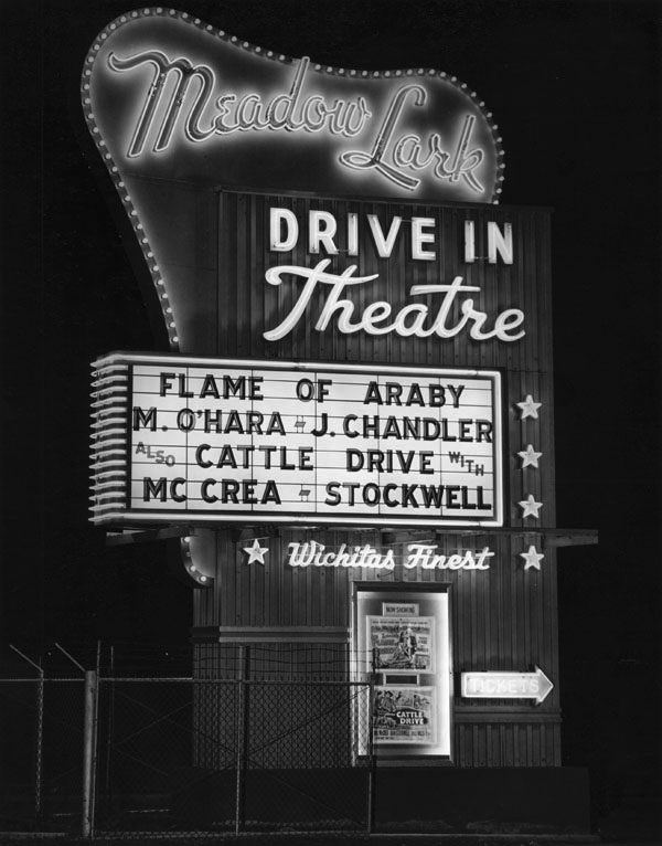 Meadow Lark Drive In Theatre - Wichita, Kansas U.S.A. - 1951